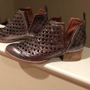 Beautiful metallic booties